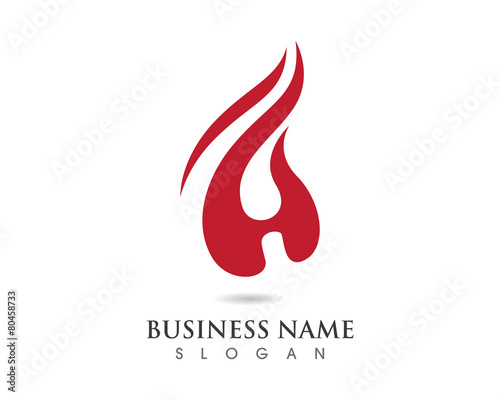 H fire Logo
