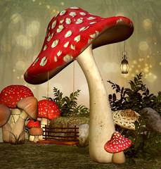 Elf fantasy garden