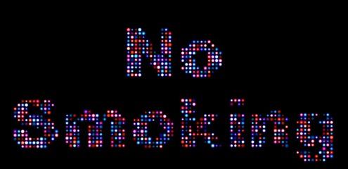 No smoking led sign