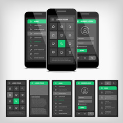 vector illustration of mobile ui