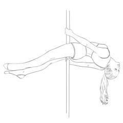 Pole dancer woman
