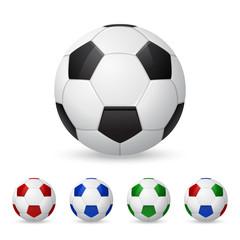 Set of vector soccer balls