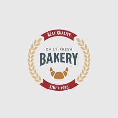 Logo Bakery Retro Vintage Label design vector Hipster