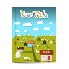 Vector Book or Flyer - Leaflet Cover Design