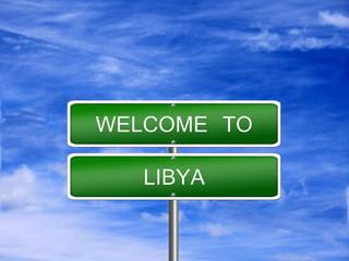 Libya Welcome Travel Sign