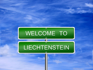 Liechtenstein Welcome Travel Sign