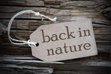 Back To Nature On Beige Label