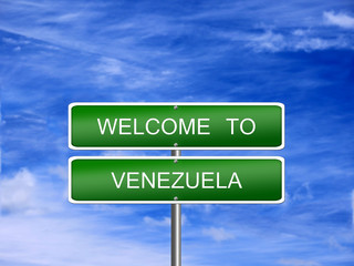 Venezuela Welcome Travel Sign