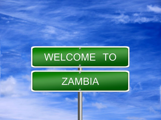 Zambia Welcome Travel Sign