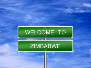 Zimbabwe Welcome Travel Sign