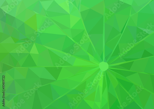 Origami Style Lotus Leaf Background Polygon