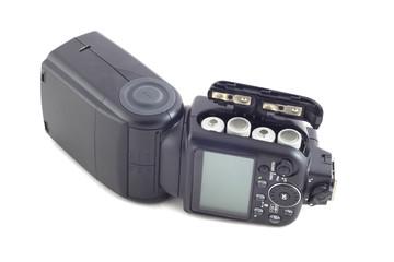 Camera flash isolated on white background