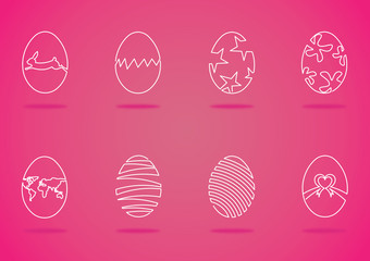 Easter egg in one line style