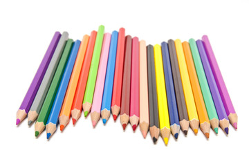 Colorful pencilsColorful pencils on white background