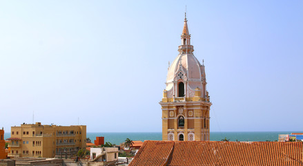 Cathedral in the Spanish colonial city of Cartagena, Colombia