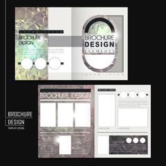 gorgeous half-fold brochure design