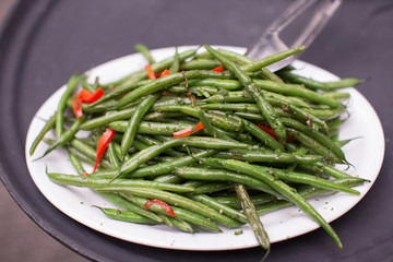 Organic Green Beans with Red Pepper