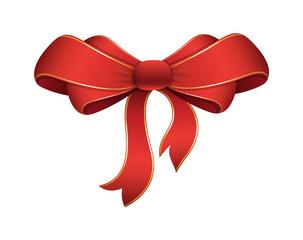 Decorative Festive Christmas Bow Element