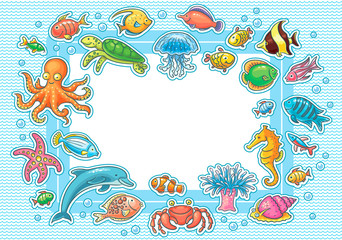 Frame with Sea Animals