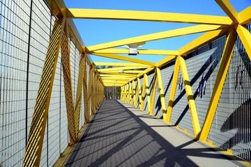 Walking bridge over bybass of Vilnius city in western side