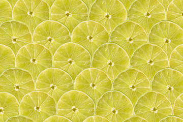 Lime Slice Abstract Seamless Pattern