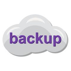 Icono backup en nube