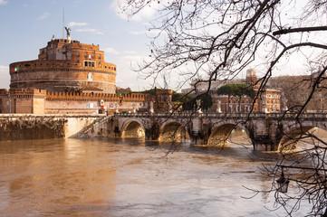 Roma Ponte Sant Angelo Castel Sant Angelo