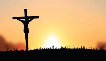 Jesus on the cross vector
