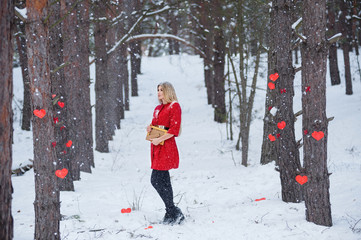 Valentines day Sensual blond woman