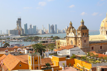 View of the historic center of Cartagena, Colombia