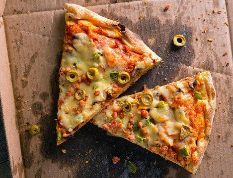 Cold Leftover Pizza