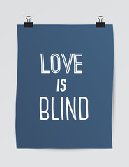 Vector poster with quote about love