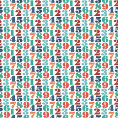 seamless number patter background