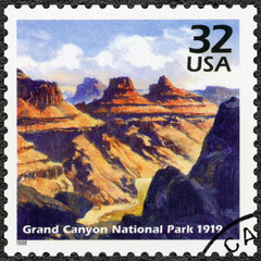 USA - 1998: shows Grand Canyon National Park, 1919