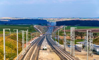 High-speed railway LGV Est phase II under construction near Save