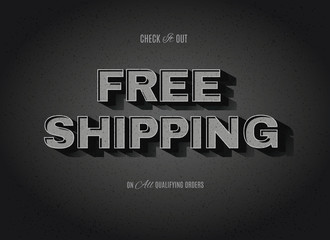 vector free shipping sign