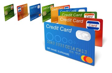 Credit Card. 3D. Credit cards