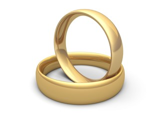 Ring. 3D. Wedding rings