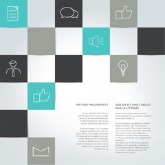Brochure, report layout template. Info graphic.