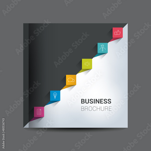 Text Page Template. Brochure, Flyer, Annual Report Cover.  Annual Report Cover Page Template