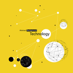 Abstract Technology Yellow Background