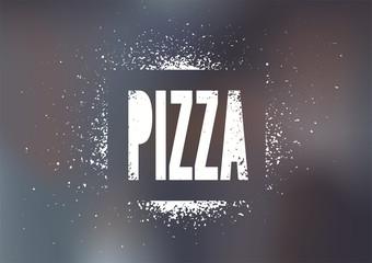 Restaurant menu design for pizza. Vector illustration.