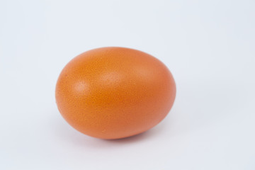 orange easter egg on white background