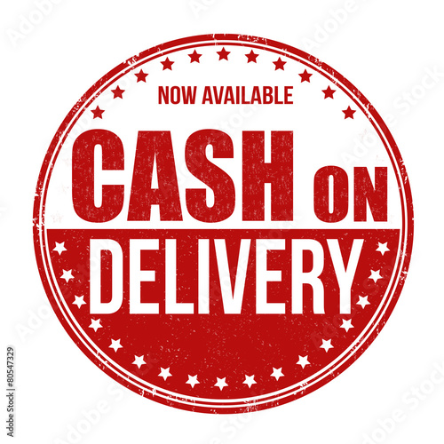 """""""Cash on delivery stamp"""" Stock image and royalty-free ..."""