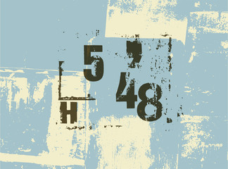 Retro poster in grunge style with typographic signs.