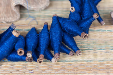 Reel thai natural indigo dye