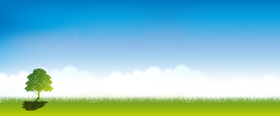 green and blue sky background