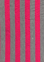 Red fabric patterned line