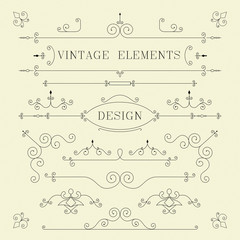 Vintage Design, Borders, Retro Elements, frame illustration