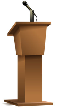 blank podium